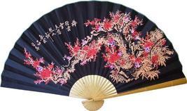 Black Sakura Asian Wall Fans - $39.95