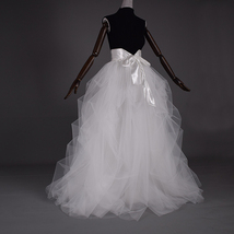 WHITE Detachable Tulle Skirt White Tulle Bridal Skirt High Waisted Wedding Skirt image 2