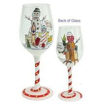 Lolita Cherry Mismas Wine Glass New in box Retired Rare Christmas Holiday - $37.44