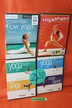 4 Sealed Yoga Exercise Fitness DVD's Healthy Living Essentials Flow And Shakti  - $39.59