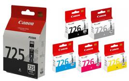 Canon PGI-725 Black+CLI-726 Black,Cyan,Magenta,Yellow,Grey Ink Tanks (5p... - $90.66