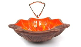 Vintage Sequoia Ware Nut Dish 710 USA Candy Bowl Retro California Potter... - $15.84