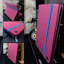 iPad 2 & 3  Retro Cover Pink Purple Folio Book Case & Stand PROPORT™ - $30.90
