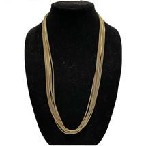 "J crew 6 strand antique gold tone box chain necklace 28"" - $20.57"