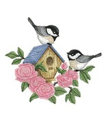 Nature weaved in threads, Amazing Blooming Chickadee Birdhouse [Custom a... - $19.79