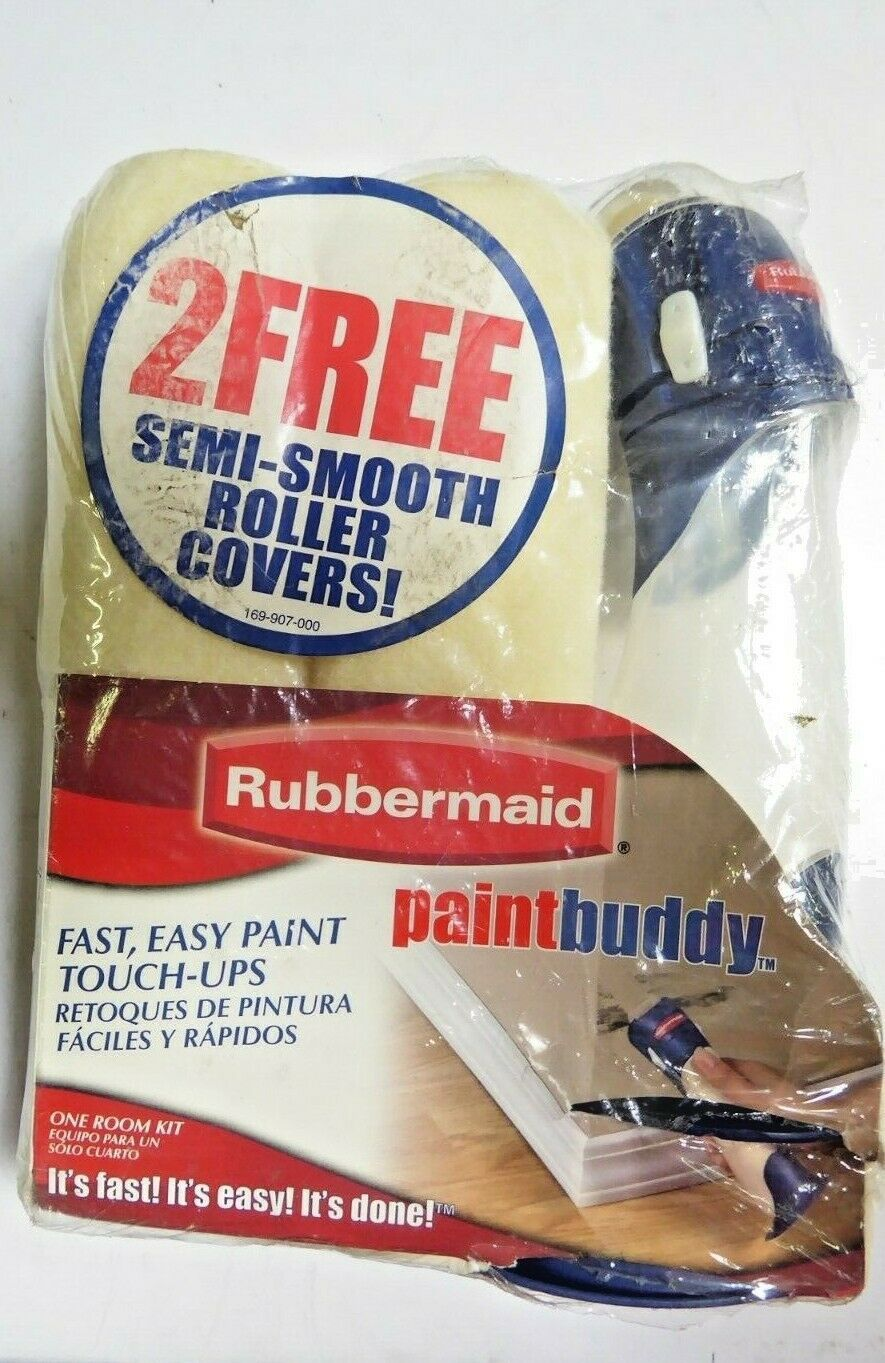 Rubbermaid 057-595-000 Paint Buddy Touch Up Tool Kit With Two Roller Covers New