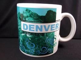 Starbucks coffee Large City Mug DENVER 1998 18 oz green purple - $22.74