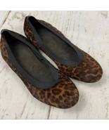 Stuart Weitzman calf hair cheetah print flats womens 8.5 - $27.00