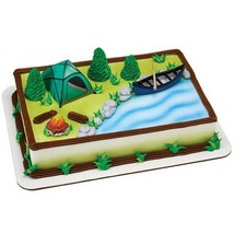 Decopac Fireside Camp DecoSet Cake Decoration - $13.32