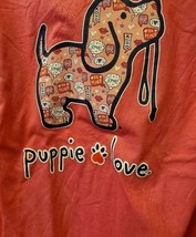 New PUPPIE LOVE VALENTINES CONVO PUP  T SHIRT **LONG SLEEVE** - £18.17 GBP