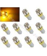 OCTANE LIGHTING (10) Yellow Amber 5-Led Dash Panel Cluster Gauge Clock G... - $19.75