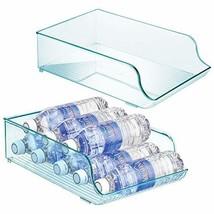 mDesign Wide Plastic Kitchen Water Bottle Storage Organizer Tray Rack - ... - $22.54