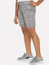 Justice Girl's Size 14-16 Knit Bermuda Shorts in Graphite Heather New with Tags - $12.86