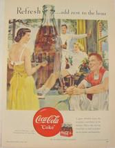 1950 Coca Cola Tennis Theme COKE Print Ad - $9.99