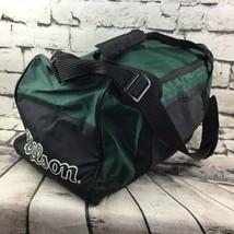 """Vintage Wilson Duffle Sport Gym Bag Travel Tote Green Black 9""""X9""""X18"""" - $19.79"""