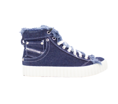 DIESEL Exposure Women's Indigo Fashion Sneaker Size 7.5 - $75.73