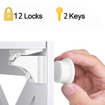 Magnetic Child Lock 4-12 locks+1-3key Baby Safety Baby Protections Cabin... - $17.72+