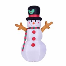 Inflatable Toy Santa Claus LED Lighted Christmas Props Winter Party Deco... - €77,17 EUR