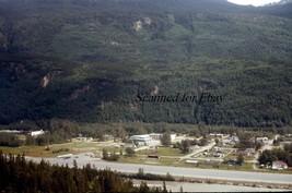 Skagway Alaska Aerial View Aug 70 ORIGINAL EKTACHROME SLIDE - $6.50