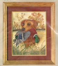 """Golden Retriever Picture Counted Cross Stitch NOS Mallard Hunting 14"""" x 18"""" New  - $21.77"""