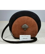 Unbranded Judith Jack Suede Cross Body Shoulder Bag Marcasite Shell Accent - $264.99