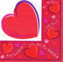 Valentines Day Sweet Hearts Beverage Napkins (30) - Party Supplies - $3.72
