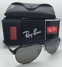 RAY-BAN POLARIZED Sunglasses TECH SERIES RB 8313 002/K7 Black Aviator w/ Mirror