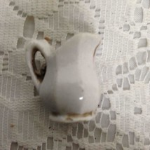 Antique, White Miniature Pitcher   1in x 1in D - $9.45