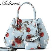 Arliwwi Designer Women Large Tote Bags.Lady Synthetic Leather Flowers Me... - $69.99+