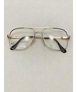 VTG New Europa Black & Gold Aviator Australian Frame Metal Eyeglasses 55... - $35.00