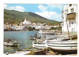 Spain Catalonia Cadaqués Playa Poal Costa Brava Boats Panorama 4X6 Postcard - $4.95