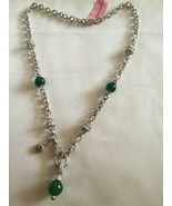 Sterling silver necklace,,20 in,Green,Judith Ripka,NWT - $202.95