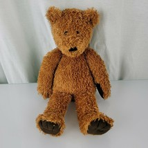 Vintage Jellycat Golden Brown Teddy Bear beans Dark Chocolate Paw Pads Floppy - $128.69