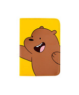 We Bare Bears Passport Holder Grizzly Yellow Travel Blocking Case Cover ID - $20.48