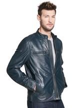Designer Man genuine Handmade men leather jacket real leather jacket for... - $119.99