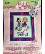 Bucilla Counted Cross Stitch Kit SO GIRLY Out of Control Girl Teenagers ... - $9.30