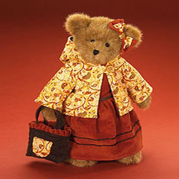 "Boyds Bears ""Sienna Autumnworth"" 16"" Plush Bear- #904911 -NWT-2008"