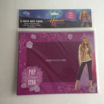 "Hannah Montana 6 Insert Photo Note Cards w/ Envelopes 7.5"" X 6"" - $5.71"