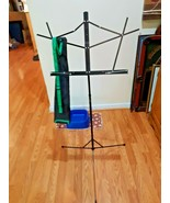 Belmonce Adjustable Sheet Music Stand with Carrying Case Black - $19.79