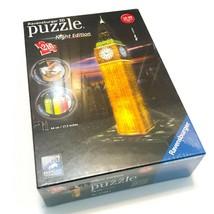 New Ravensburger 3D Puzzle Night Edition Big Ben London LED Lights 216 Pieces  - $27.95