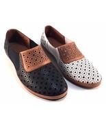 La Pinta 379-2015-15YY Leather Round Toe Slip On Flat Loafers Choose Sz/... - $56.40