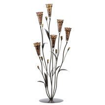Iron Candle Holder, Decorative Leopard Lily Tall Flowered Candle Holders... - €53,27 EUR