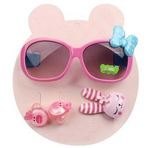 Children Hair Suit Sunglasses Bow-knot Style Hairpins and Hair Circle, Pink - €15,46 EUR