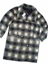 BANANA REPUBLIC women's Coat Jacket PEA COAT Wool Black White Small S NEW - $97.57
