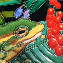Frog Ceramic Trivet Tile Tropical TC - $44.55
