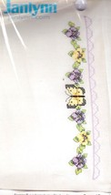 Janlynn Pansies & Butterfly Pillow Cases Stamped Cross Stitch Kit 021-1339 - $24.95