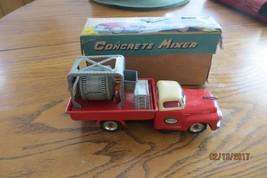 Vtg Original,KO Concrete Mixer tin friction truck in box working beautiful - $237.50