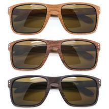 Clásico Madera Estampado Forma de Cuadrado Marco Moderno Hombre Gafas de Sol - $8.63