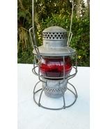 Norfolk & Western Railroad Lantern Red Globe Adlake Kero  - $245.00
