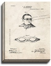 Eye Protector Patent Print Old Look on Canvas - $69.95+